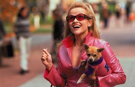 "Elle Woods in ""Legally Blonde."""