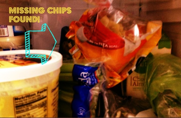 I lost the nacho chips. Why didn't I think to look in the REFRIGERATOR?