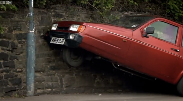 "The Reliant Robin: Image via ""Top Gear"""
